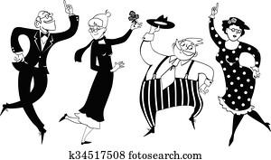 Senior dancing party