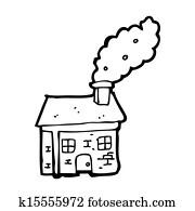 Dessin Anime Petite Maison A Cheminee Fumant Dessins K15555974