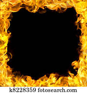 fire border with flames