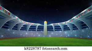 Olympic Stadium night time