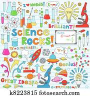 Science Doodles Vector Illustration