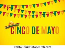 Cinco de Mayo holiday background. illustration