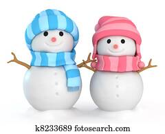 Couple Snowmen
