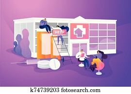 Drug rehab center concept vector illustration