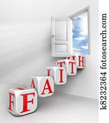 faith conceptual door