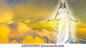 Jesus Christ in Heaven panoramic im