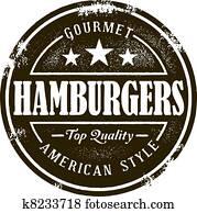 klassische, hamburger, briefmarke