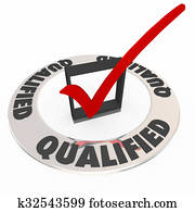Qualified Check Mark Box Approved Accepted Good Experience Review