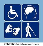 Vector set of disability symbols