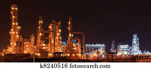 panoramic of oil refinery factory