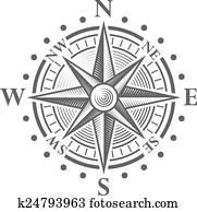 Vector Compass Rose