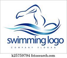 Swimming Logo Design