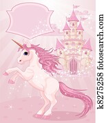 Fairy Tale Castle and Unicorn