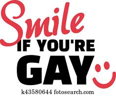 Funny gay slogan - smile if you are gay