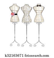 hand draw Fashion Illustration