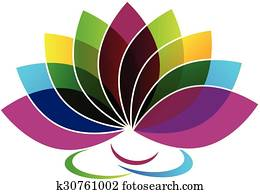 Lotus Flower identity card logo
