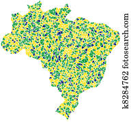 Map of Brasil