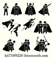 superwoman, heldin, weiblich, superhero.