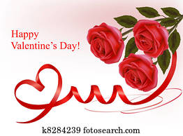 Valentine`s day background. Red ros