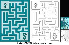 Easy alphabet maze - letter S