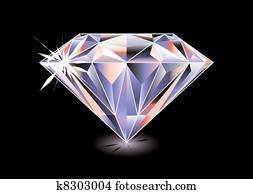 Diamond bright black