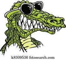 Gator or Alligator Wearing Sunglass