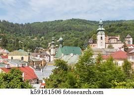 historic town Banska Stiavnica, central Slovakia
