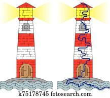 leuchtturm, labyrinth