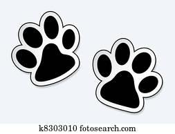 Pet paw prints