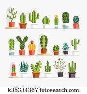 Cactus flat style.