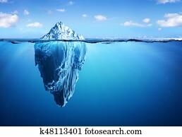 Iceberg - Hidden Danger And Global Warming Concept