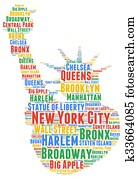 New York City word cloud concept