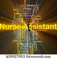 Nurse assistant background concept glowing