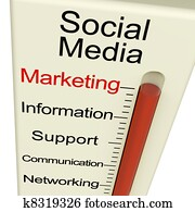 Social Media Marketing Monitor Shows Information Support And Communication