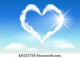 Cloud heart and sunshine