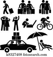 famil, tourist, reise, urlaub, rundreise