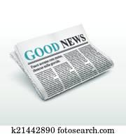 good news words on newspaper