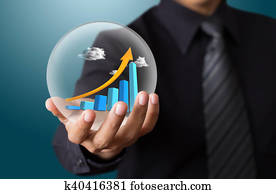 Hand Holding Crystal Ball Graph Stock Photo Images  11 hand