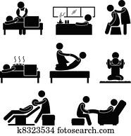 massage, heilbad, therapeutisches, wellnessbereich