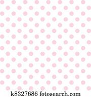 polka, dots,, pastell, seamless, muster