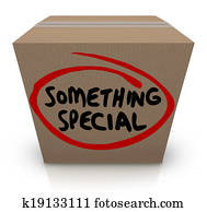 Something Special Cardboard Box Gift Delivery Unique Contents