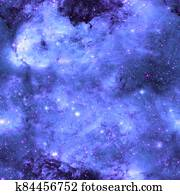 Galaxy pattern repeated design. Violet abstract