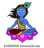 hinduistischer gott, krishna.