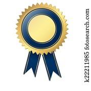 schablone, qualitaetssiegel, -, blau