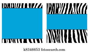 Blue Zebra Paper Set