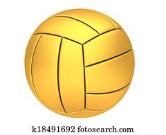 Gold volleyball