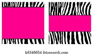 Hot Pink Zebra Paper Set