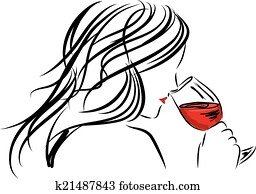 woman girl smelling a wine glass il