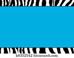 Fluorescent Blue Zebra Template