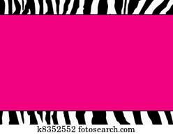 Fluorescent Pink Zebra Template